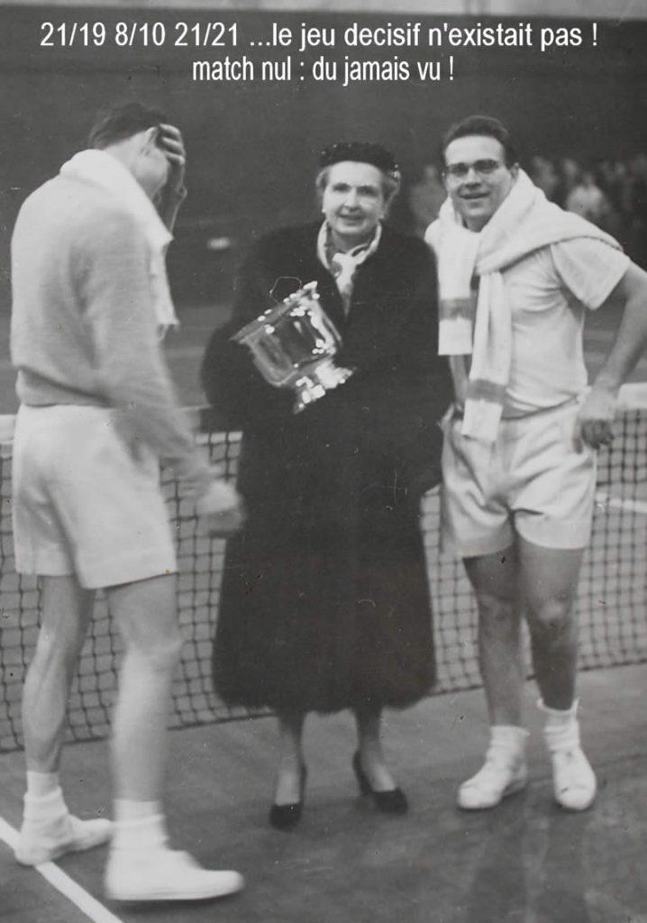 Coupe Cozon : grand tournoi d'hiver sur parquet - la finale du 20 février 1955
