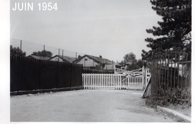 L'entrée du Tennis Club de Lyon en 1954