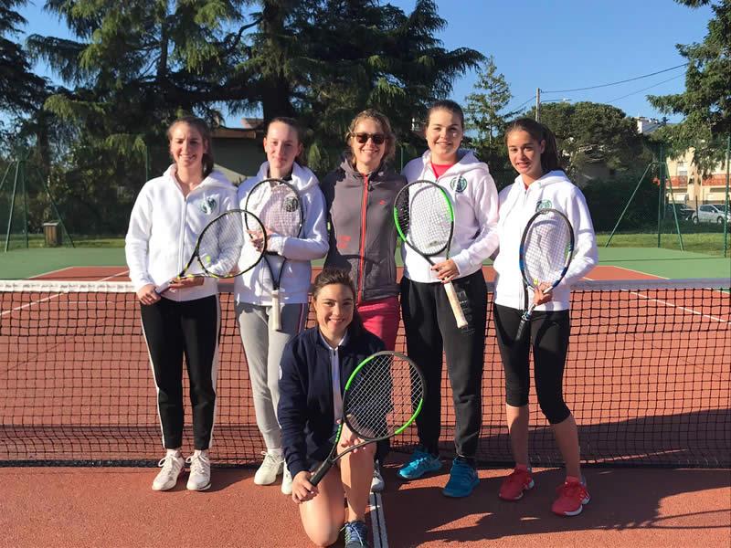 Equipe 2 féminine (N3) fait match nul à Gradignan (Perrine, Emma, Anne, Margaux, Pauline et Polina)