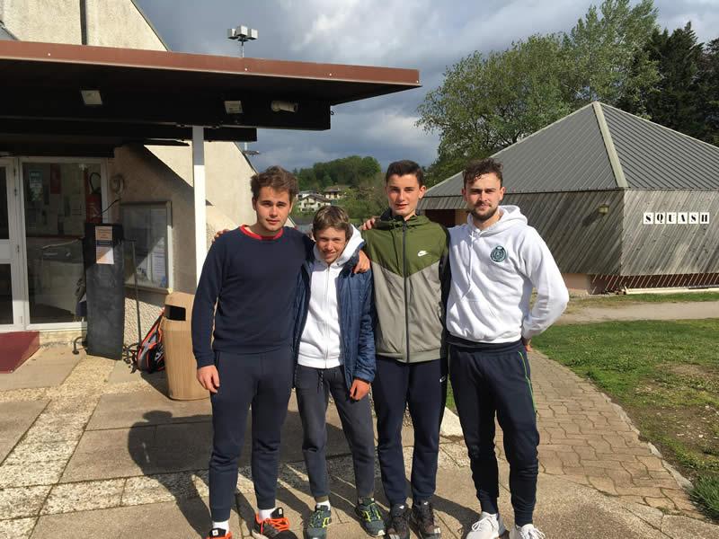 Equipe 4 masculine (ligue 1) s'impose 4/2 contre Thonon les Bains (Thibault, Léonard, Hugo et Victor)