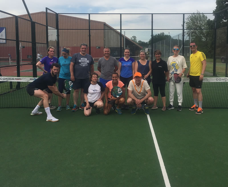 Medtronic fait découvrir le Padel avec Jessica Ginier au Tennis Club de Lyon