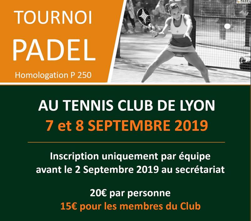 Tournoi de Padel en septembre