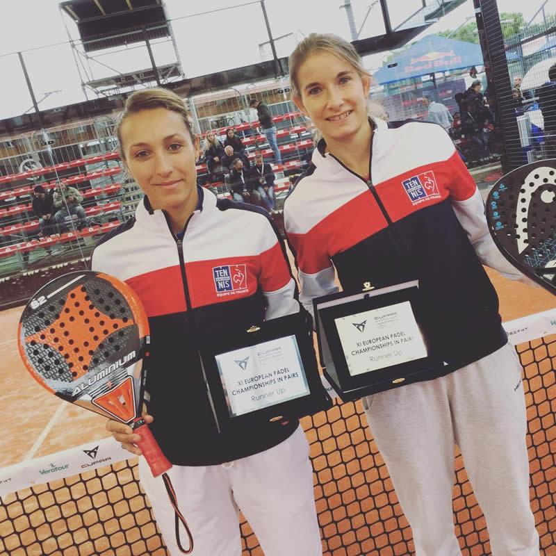 Jessica et Alix vice-championnes d'Europe dans le tournoi par paire