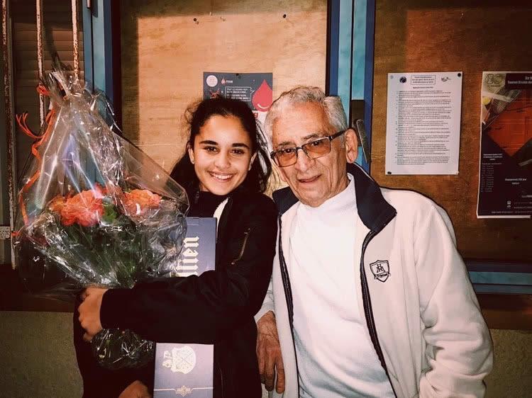 Camille qui s'impose au tournoi de Montmerle et son grand père