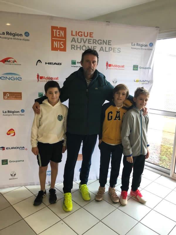 Victoire en 8ème de finale 2/1 contre le TC Urieux Défaite en quart de finale 2/1 contre le TC Bourg en Bresse