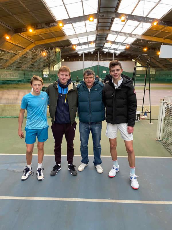 Léonard, Titouan, Cédric et Jules