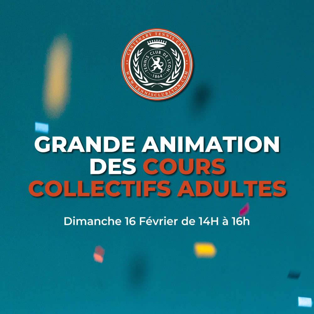 Animation spéciale cours collectifs adultes