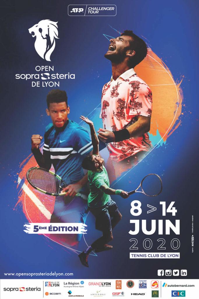 l'affiche officielle de l'Open Sopra Steria 2020 au Tennis Club de Lyon