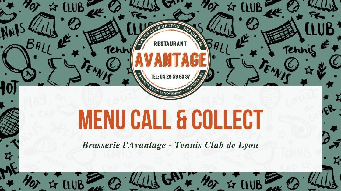 Menu Call & Collect – Semaine du 12 avril